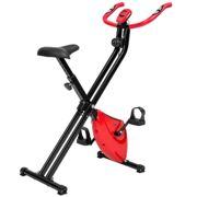 Exercise bike - foldable - black