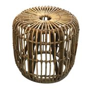 Fabio Large Rattan Side Table - Natural