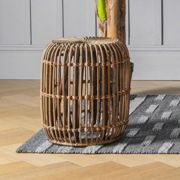 Fabio Small Rattan Side Table - Natural