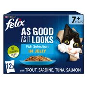 Felix Pouch Agail Senior Gij Fish Multipack Mvp 12x100g (Pack of 4)