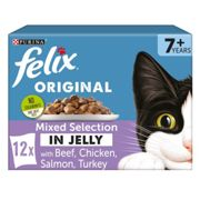 Felix Mixed Selection In Jelly Pouch Senior Cat Food 100g x 12