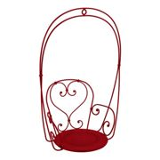 Fermob - 1900 Hanging Chair - poppy red/smooth/WxHxD 74x110x54cm/UV-resistant