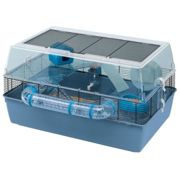 Ferplast Hamster Cage Blue Rodent House Small Animals House Habitat Outdoor