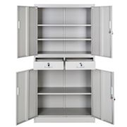 Filing cabinet with 2 drawers - grey