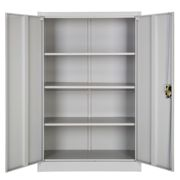 Filing cabinet with 4 shelves - grey