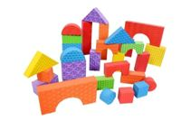 Foam Building Blocks - Textured 60 Piece Set