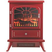 Focal Point Electric Fire Stove Burgandy - ES2000 Burgandy
