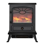 Focal Point ES2000 Electric Stove with Log Flame Effect - Black