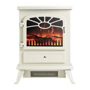 Focal Point ES2000 Electric Stove with Log Flame Effect - Cream