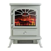 Focal Point ES2000 Electric Stove with Log Flame Effect - Grey