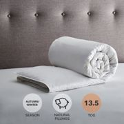 Fogarty Anti Allergy White Goose Feather and Down 13.5 Tog Duvet White