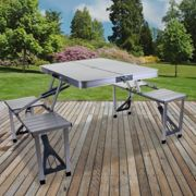 (Foldable Camping Table Set ) Folding Camping Tables Outdoor Garden Picnic Festival Fishing Portable BBQ Patio