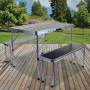 (Foldable Table & Bench Set ) Folding Camping Tables Outdoor Garden Picnic Festival Fishing Portable BBQ Patio