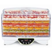 Food Dehydrator 48hr Digital Timer & Temp - 6 Tray Fruit Veg Meat