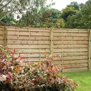 """Forest 5'11""""x4'11"""" Exeter Pressure Treated Decorative Fence Panel - 1.8mx1.5m"""