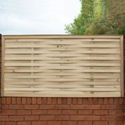 Forest 6'x3' Pressure Treated Woven Fence Panel