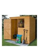 Forest 6X4 Premium Shiplap Pent Shed - Shed Only One Colour