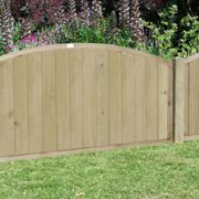 Forest 6'x4' Pressure Treated Dome Top Tongue and Groove Fence Panel