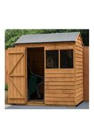 Forest Garden 6 x 4 ft Reverse Apex Overlap Dip Treated Shed