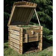 Forest Beehive Wooden Compost Bin 2'5x2'6
