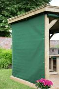 Forest Garden 3m Hexagonal Wooden Garden Gazebo Curtains (Green)