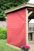 Forest Garden 4m Hexagonal Wooden Garden Gazebo Curtains - Terracotta