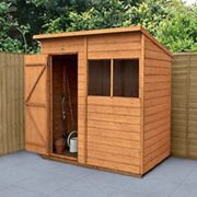 Forest Garden 6 x 4 ft Pent Shiplap Dip Treated Shed