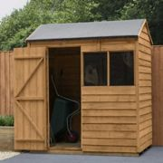 Forest Garden 6 x 4 Overlap Dip Treated Reverse Apex Shed