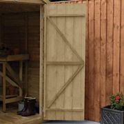 Forest Garden 8 x 6ft Overlap Reverse Apex Pressure Treated Shed with Assembly