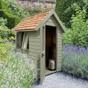 Forest Garden Forest Retreat Shed 6x4 - Moss Green (Installed)