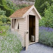 Forest Garden Forest Retreat Shed 6x4 - Natural Cream (Installed)