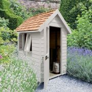 Forest Garden Forest Retreat Shed 6x4 - Pebble Grey (Installed)