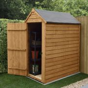 Forest Garden Overlap Dip Treated 3x5 Apex Shed - No Window