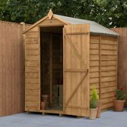 Forest Garden Overlap Dip Treated 6 x 4 Apex Shed No Windows
