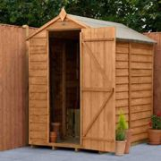 Forest Garden Overlap Dip Treated 6' x 4' No Window Apex Shed