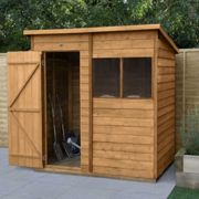 Forest Garden Overlap Dip Treated 6 x 4 Pent Shed