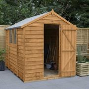 Forest Garden Overlap Dip Treated 8 x 6 Apex Shed
