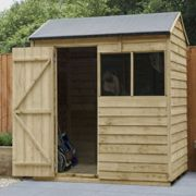 Forest Garden Overlap Pressure Treated 6 x 4 Reverse Apex Shed