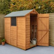 Forest Garden Shiplap Dip Treated 6x4 Apex Shed