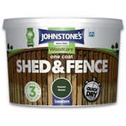 (Forest Green, 9L) Johnstones One Coat Shed And Fence