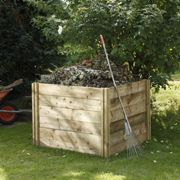 Forest Slot Down Wooden Compost Bin