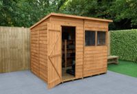 Forest Wooden 8 x 6ft Overlap Pent Shed