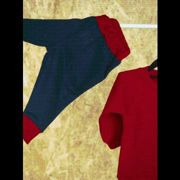 Fresh Kids - Track Bottoms - Track Bottoms / 12-18 / Navy/ Red Trim