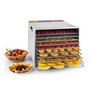 Fruit Jerky Steel 10 10-Tiered Stainless Steel Food Dehydrator 1000 W