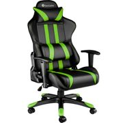 Gaming chair premium black/green - synthetic leather
