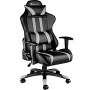 Gaming chair premium black/grey - synthetic leather