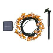Garland Light Garland thread 4.5m With Nozzles bees, Bulbs, String, Ip44, Dark Thread, 30 Led, Warm White Glow, 2 Modes, Solar Battery