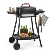 Gatsby Electric Grill 2000W Non-Stick Grill Surface Side Tables Black