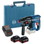 GBH 18V-20 18V Cordless SDS-Plus Hammer Drill 2X 5.0AH Battery Packs, GAL1880CV Fast Charger in L-BOXX - 0 611 911 073