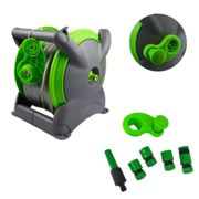 GEEZY 15M Hose Pipe Reel Set Fitting Garden Patio, Freestanding, Wall Mounted Hosepipe